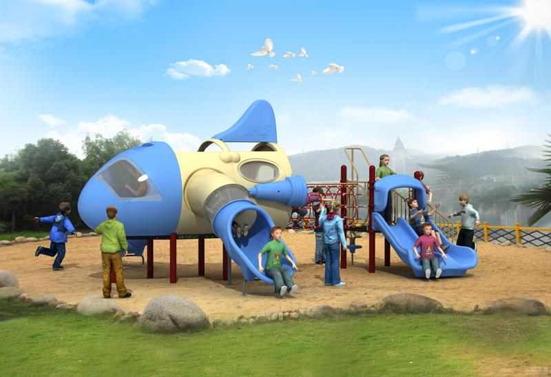 Latest Design Outdoor Playground Equipment Aircraft Series WD-FJ009-Wande Play