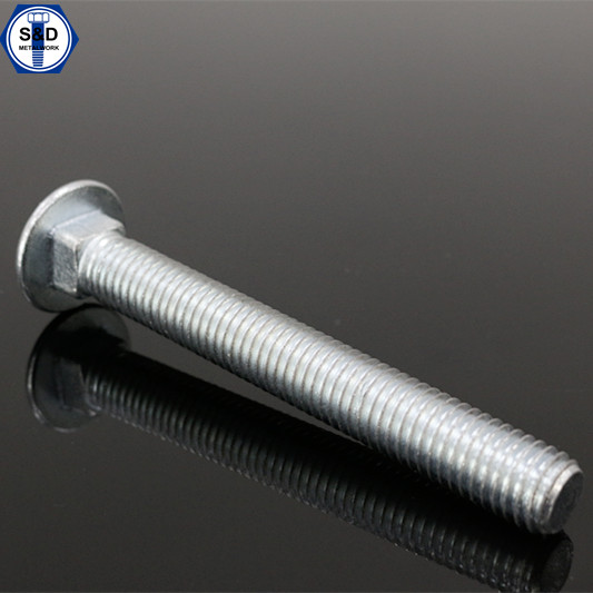 Carriage Bolt With Mushroom Head And Square Neck, Half/Full/UNF/UNC Thread Type
