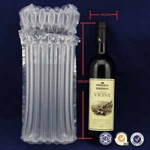 Air Bubble Bags For Packaging Red Wine Bottle
