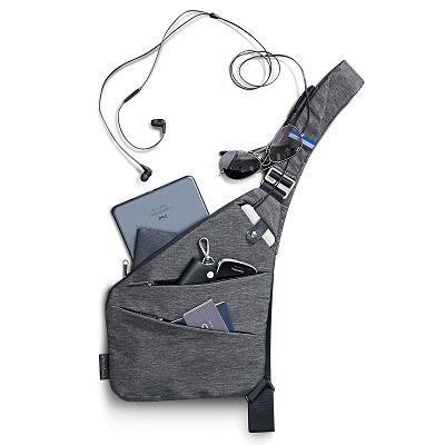 NIID-FINO Classic Sling Shoulder Crossbody Chest Bag Slim Backpack Multipurpose Daypack