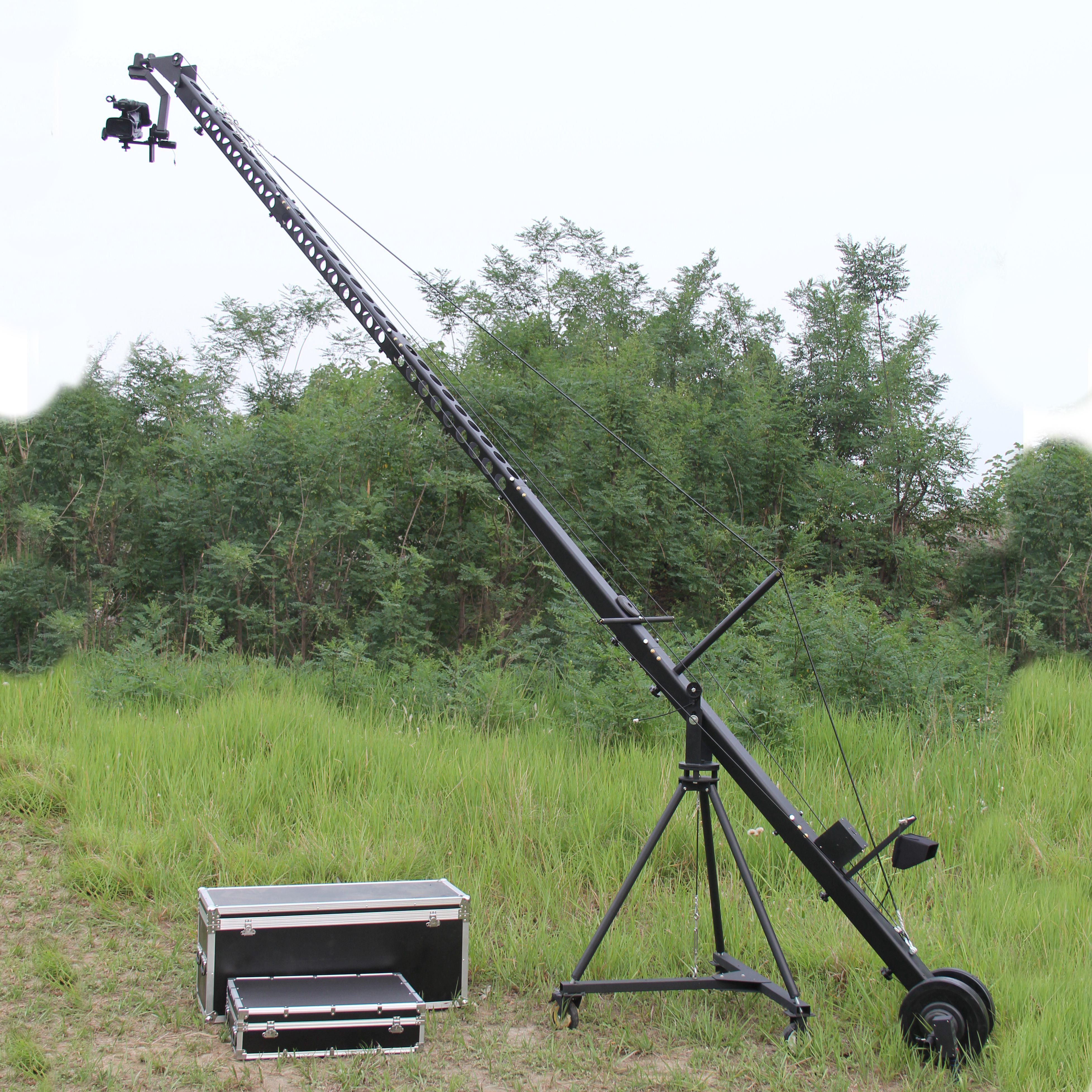 2 Aixs Remote Head Triangle 8m Video Camera Jib Crane For Video Camera