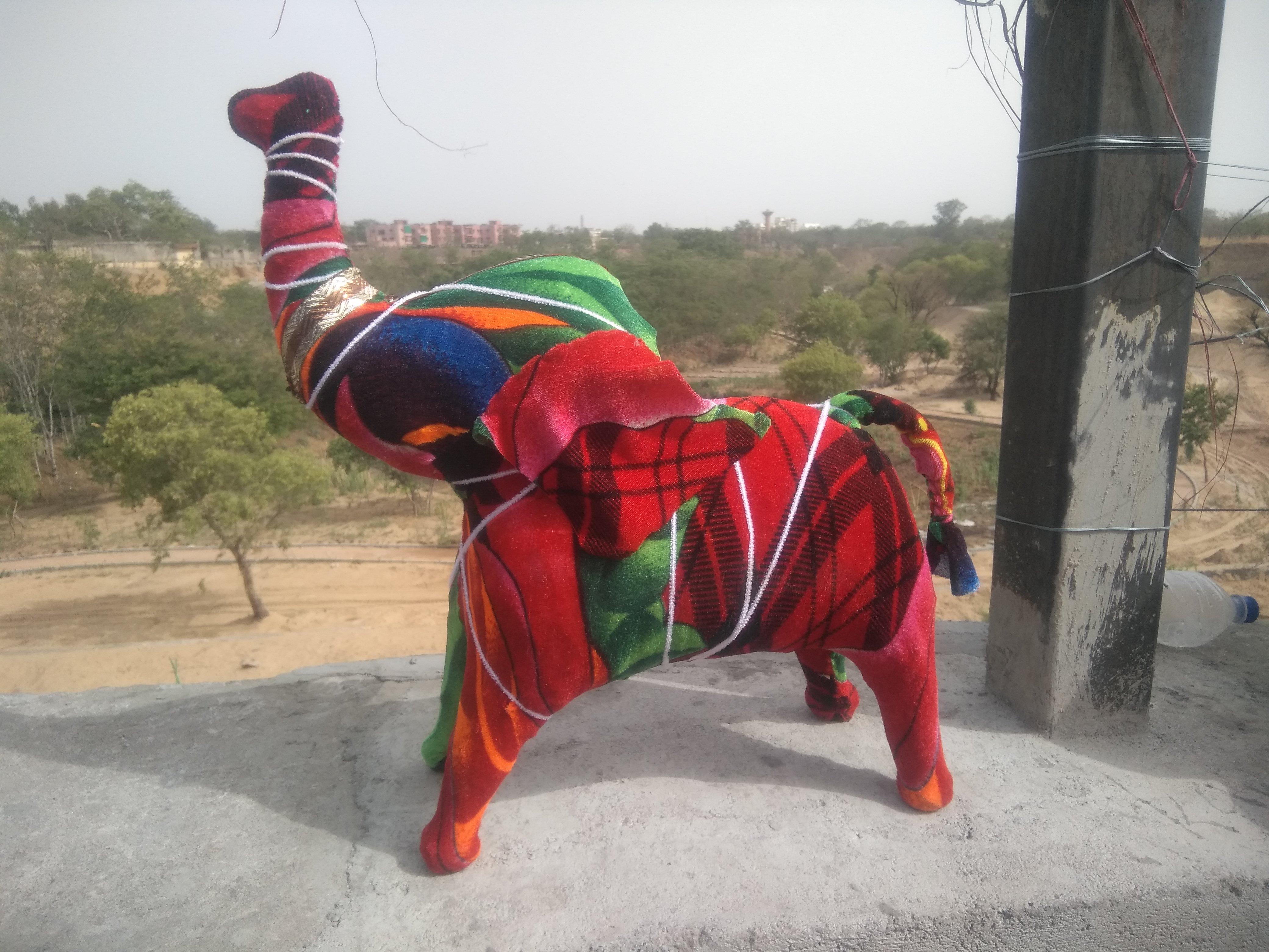 Handmade Artificial Decorative Elephant