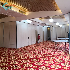 Manufacturer Supply Hanging Curtain Room Divider French Screen Make Folding For Canteen