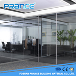 Soundproof Artistic Office Single Glass Partition