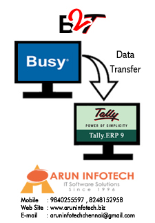 Busy To Tally.ERP9 Software Service