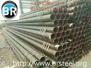 ERW Carbon Steel Pipes Welded Pipes For Construction Structural Fluid Trasportation Gas Oil