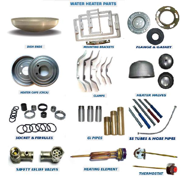 Supply Of Water Heater Parts