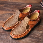 Men Summer Leather Toe Cap Outdoor Sandals Breathable Casual Shoes